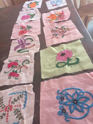 Sewing Lesson - Fabric Work