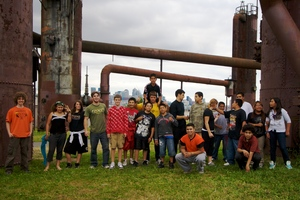 Parkour Visions and New Futures group shot
