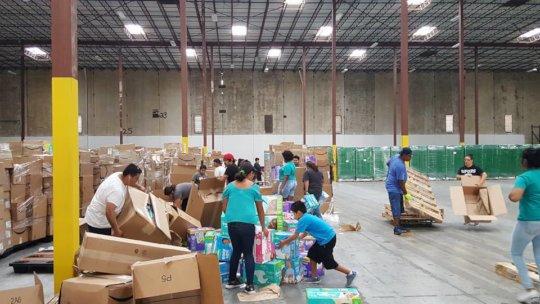 Unpacking at Rittiman warehouse