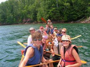The Voyaguer Canoe in the Apostle Islands