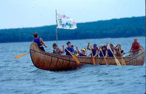 The Voyageur Canoe on Lake Superior.