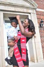 Tilifayea and Dejan on graduation day.