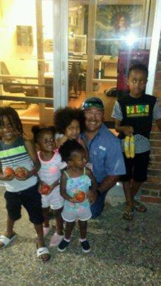 FBRGV Distribution Mgr, Roel, meeting kids!