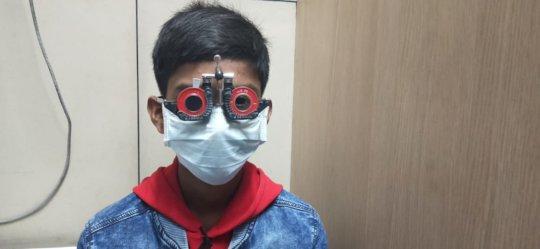 Vishal's going through detailed eye check up