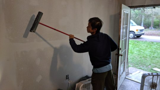 Sam finishing up another restored home