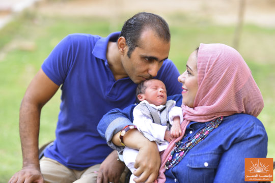 Malek with his Loving Parents