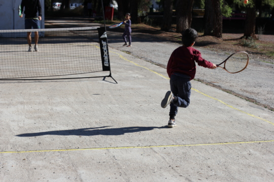 Tennis sessions in Ritsona Camp