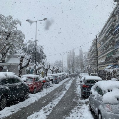 Athens after a recent spell of snow