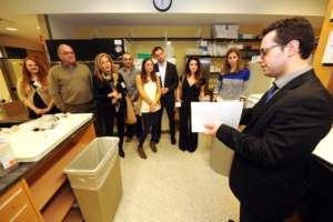 Dr. Vassilopoulos giving a lab tour