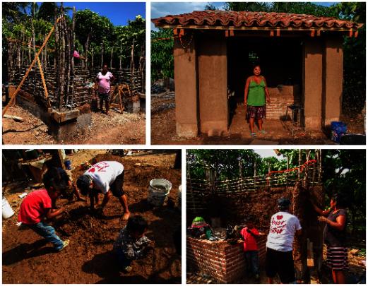 Construction of Venancia's kitchen as a workshop