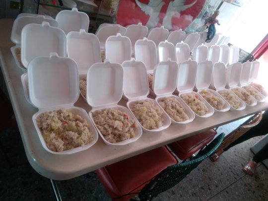 Meal to be Distributed To The Homeless