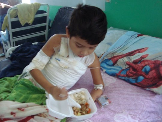 Child eating one of our delicious meals