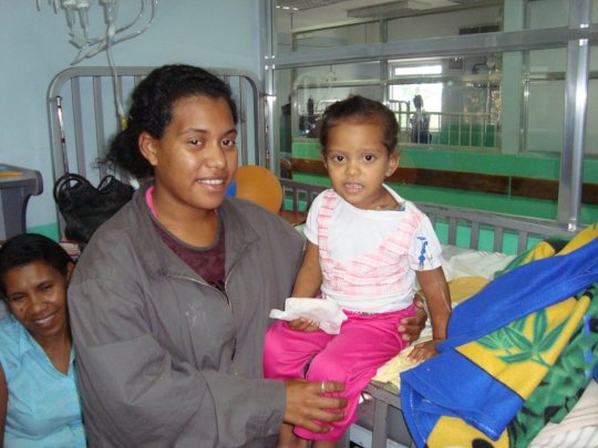 Mother and her daughter from hospital