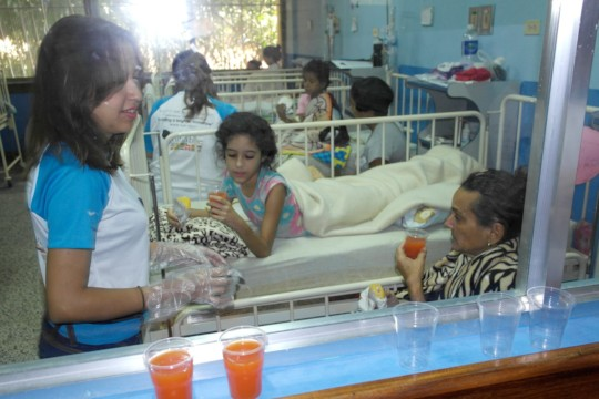 Sharing with the Patients at the Hospital