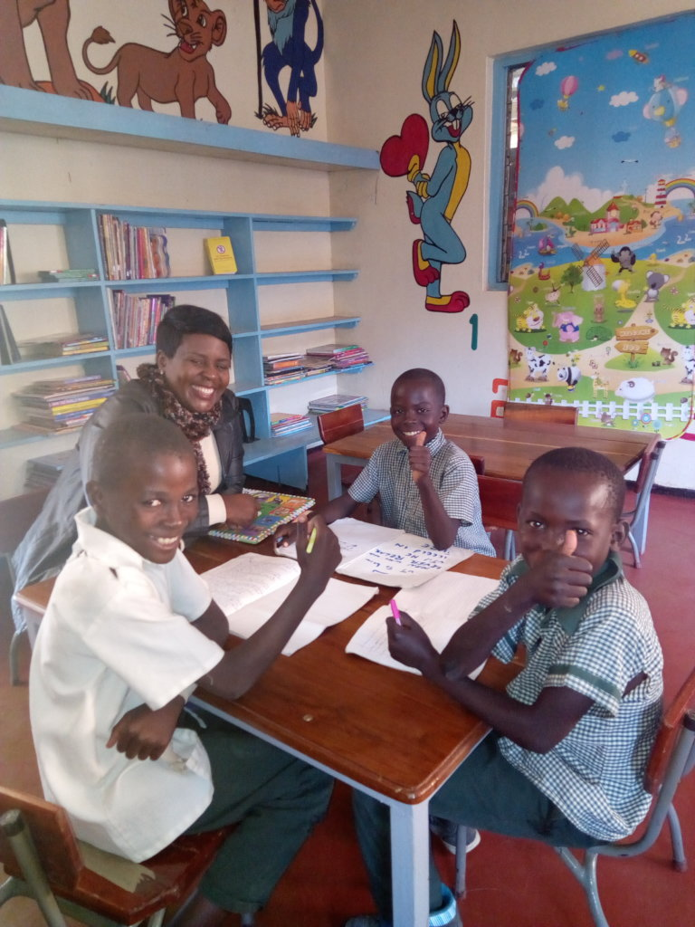 Homework clinic sessions with young students