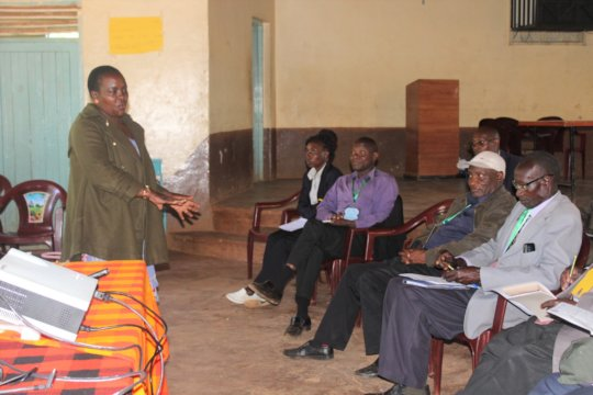 Karen, HFAW's CHHRP, training on FGM effects