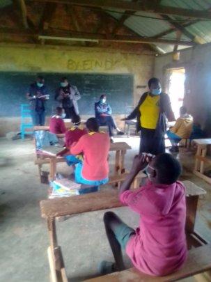 School advocacy by HFAW and  CHVs at Kiamwarimu