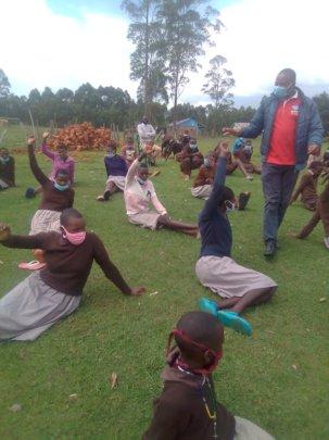 CHV leading a session at Machururiati school
