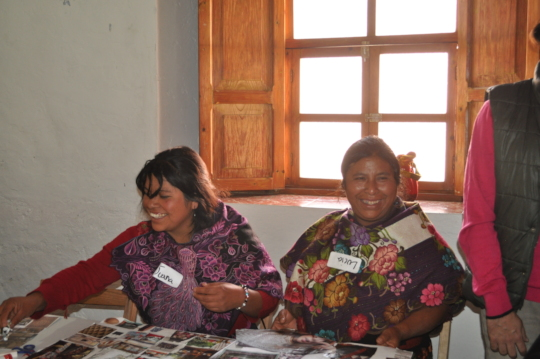 Women form Zinancatan at workshop