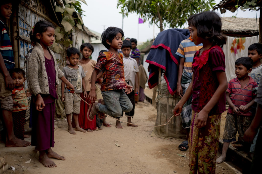 Because of you Rohingya children can play again!