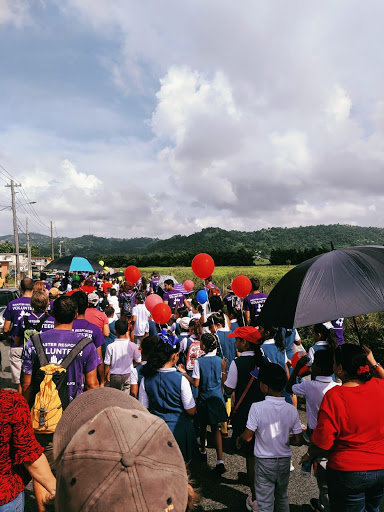 Community members participating in the parade