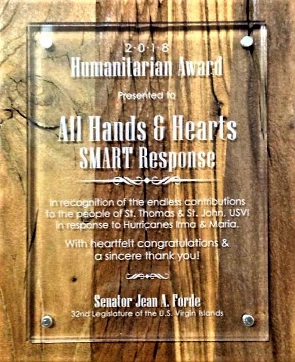 Award from Senator Forde