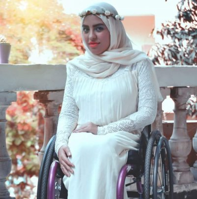 1st model on wheelchair