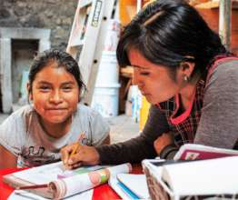 Children benefit from education & health programs.