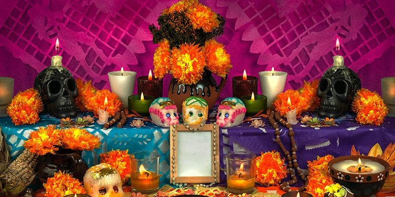 Honouring the departed with an abundant alter