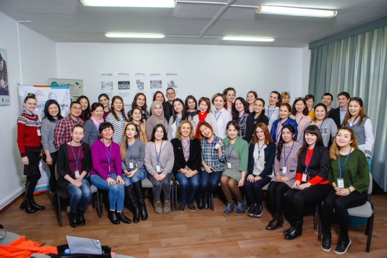 Attendees at the recent event for English teachers