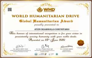 Atzin Award from World Humanitarian Drive - Covid (PDF)