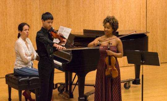 Harlem Quartet violinist Melissa White masterclass