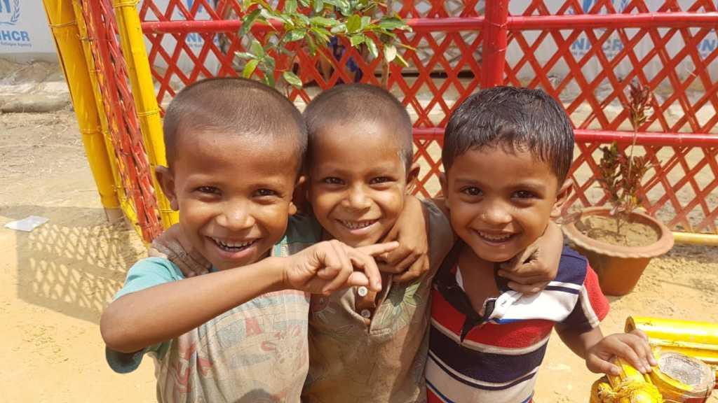 Children attending the new Learning Center