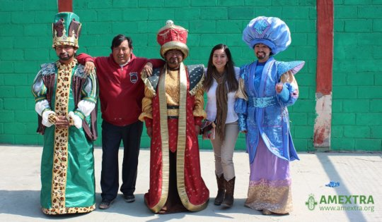 Staff Gaudencio and Marcela with the 3 Kings