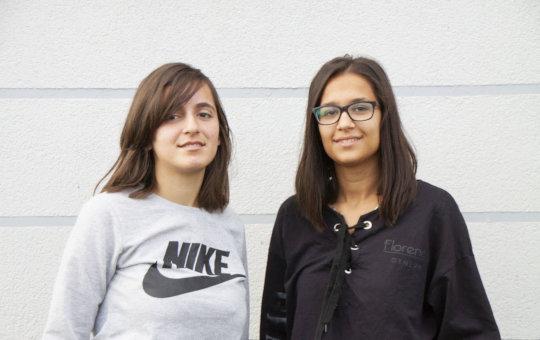 Ambra and Jorida, high school students in Albania