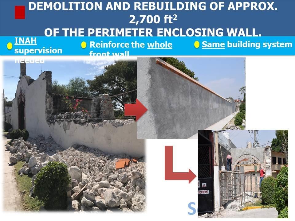 Enclosing wall