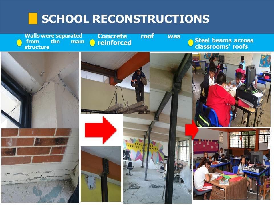 School reconstruction progress