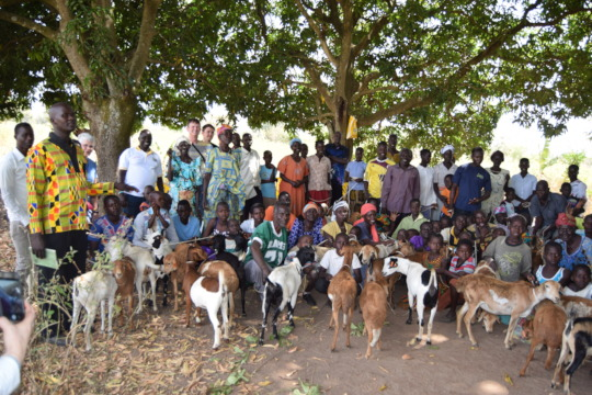 Villagers who received a goat