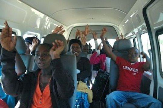 Fridays: Children returning to their village