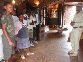 children visiting Makalali Lodge