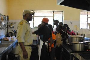 children visiting Makalali's kitchen