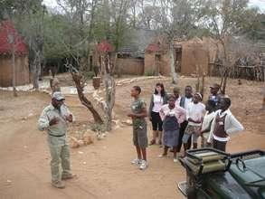 Makalali staff explaining why caring for wildlife