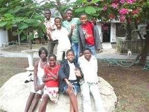 Group of children at Daktari