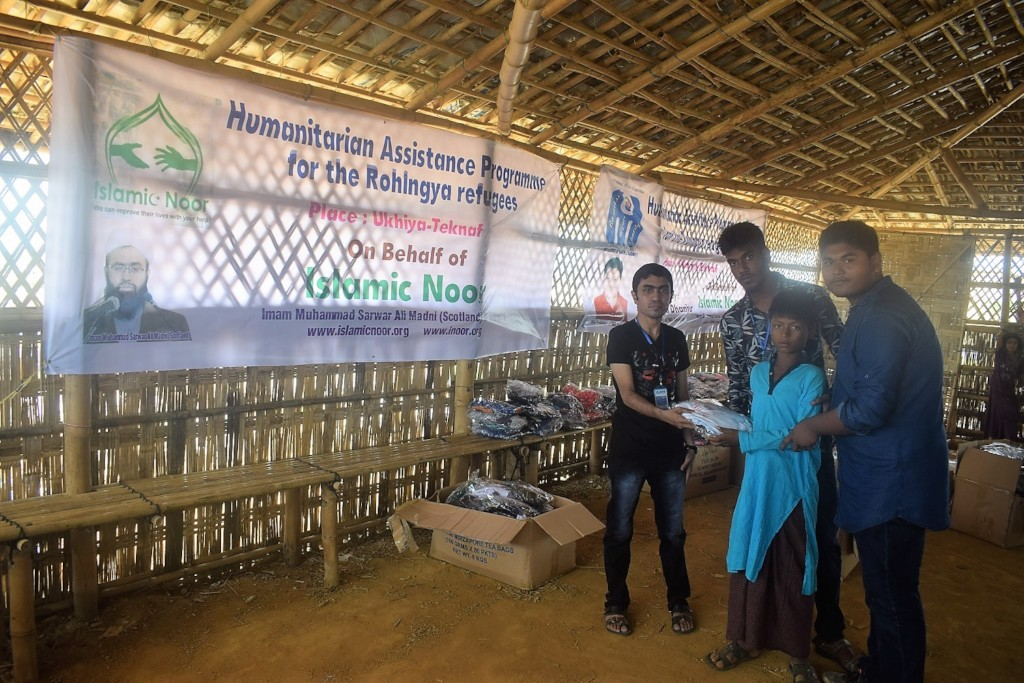 Distribution of relief items by IMO