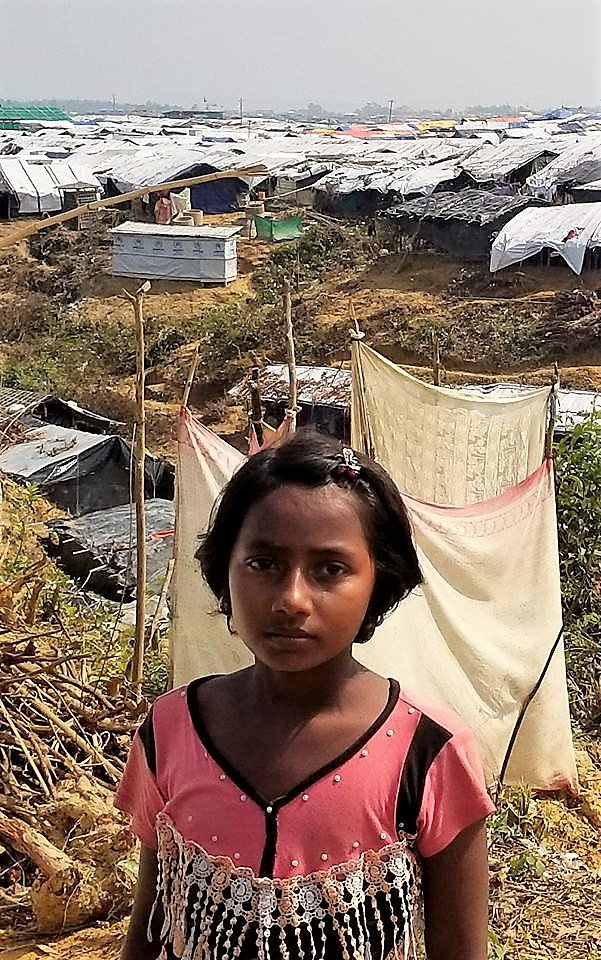 A Rohingya child