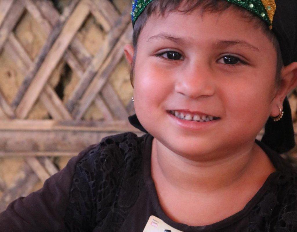 A Rohingya child
