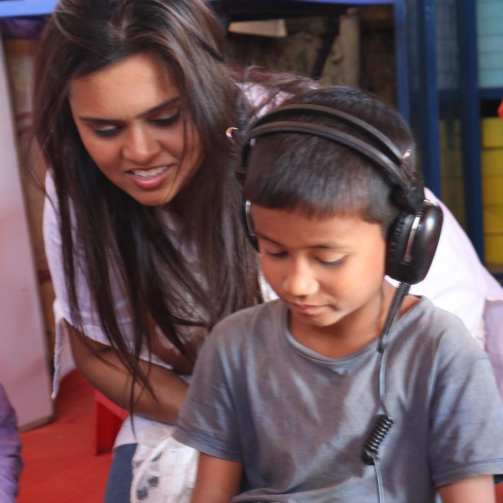 Shafin, with a student from Digital Learning