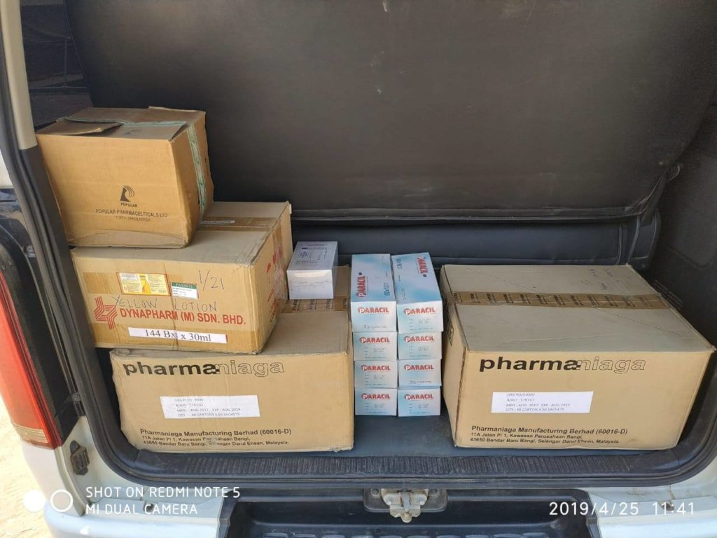Donations from MSF
