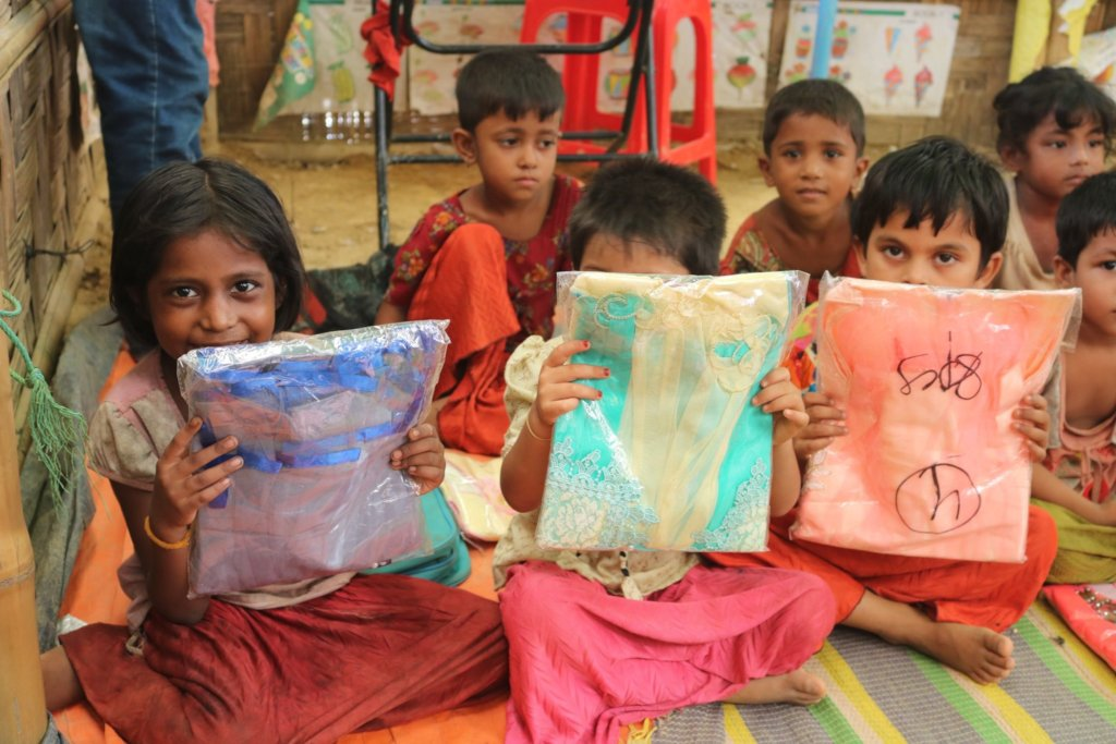 Distribution of Eid Clothes