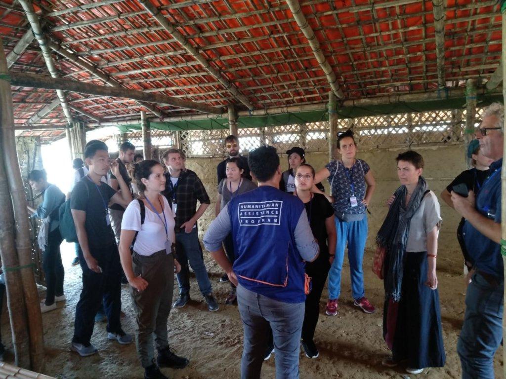 Harvard students study Rohingya shelters